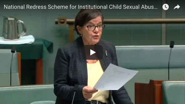 National Redress Scheme for Institutional Child Sexual Abuse: Cathy McGowan Acknowledges VWT