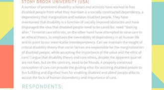 INTERSECTIONS | FEMINIST CARE ETHICS AND DISABILITY STUDIES