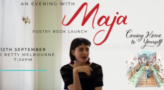 """Maja – """"Coming Home to Yourself"""" – Poetry Book Launch, Melbourne"""